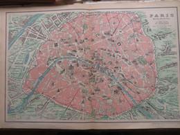 PLAN DE PARIS MONUMENTAL— PLAN ANCIEN DE 1896 (+ PLANS HISTORIQUES DE PARIS PLUS ANCIENS) - Mapas Geográficas