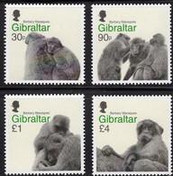 Affen 2020 Gibraltar 1994/7 ** 15€ Affenliebe Naturschutz Felsenaffen Barbary Macaques Fauna WWF Monkey Set Of UK - Monkeys