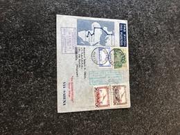 Belgie AIRMAIL PA6/7 RARE SABENA LETTER BRUSSELS TO ELISABETHVILLE BELGIAN CONGO 1935 - Aéreo