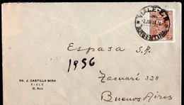 Argentina - 1943 - Lettre - Mariano Moreno - A1RR2 - Briefe U. Dokumente