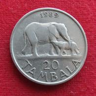 Malawi 20 Tambala 1989 KM# 11.2a  Elephant - Malawi