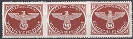 DEUTSCHES REICH - 1942 - Tre Yvert Franchigia Militare 2a Nuovi MNH Uniti Fra Loro. - Unused Stamps