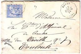 Convoyeur Station NUCES Aveyron TTB Lettre Pour Toulouse 1877 , Ind 17 = 250 Euros - 1801-1848: Précurseurs XIX