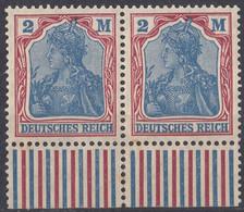 DEUTSCHES REICH - 1920 - Coppia Di Yvert 130 Nuovi MNH Uniti Fra Loro Con Margine Di Foglio. - Neufs