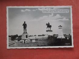 Civil War-- Statues Of Generals Buford & Reynolds & Hall's Main Battery    Paper Peel On Back Gettysburg Pa  Ref  4729 - Personaggi