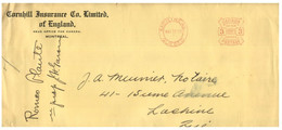 (JJ 23) Canada - Cornhill Insurance Co Limited Cover Posted To Lachine (Quebec) 1933 - Briefe U. Dokumente