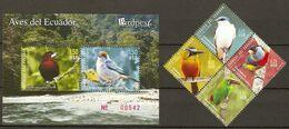 Ecuador 2010 MiNr. 3219 - 3224 (Block 203)  Birds  4v + S\sh MNH** 9.40 € - Andere