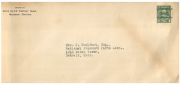 (JJ 23) Canada - Posted - Cancel 4940 On 1 Cent Stamp - Sent To USA From Windsor - Ontario - Canada - Briefe U. Dokumente