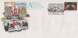 Australia PM 1247 1985 Formula One Gran Prix,dated 31st October, Souvenir Cover - Marcofilie