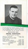 Michel Verstraete O Lendelede 1912 Priester St-eloois-vijve - Ruddervoorde - Rekkem - Kaster + Kaster  1975 - Images Religieuses