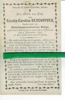 Rosalia Deschryver Echt Franciscus Borgo O Pervyse 1828 + Veurne 1893 - Images Religieuses
