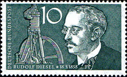 RFA Poste N** Yv: 156 Mi 284 Yv:0,6 Euro Rudolf Diesel Ingenieur (Thème) - Automobili