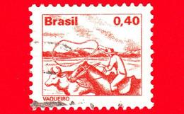 BRASILE - Usato - 1980 - Professioni - Lavoro - Vaqueiro - Cowboy - 0.40 - Oblitérés