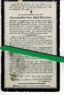 Adolf Mistiaen O Buggenhout 1854 Priester Kieldrecht- Geraardsbergen - Goefferdingen -moorsel + 1914 ( Beschadigd ) - Images Religieuses
