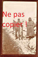 PHOTO FRANCAISE - POILUS DANS LE CHEMIN CREUX A PARGNY FILAIN PRES CHAVIGNON - NONAMPTEUIL AISNE 1917 - GUERRE 1914 1918 - 1914-18