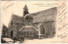 6ED 634 CPA - TREGASTEL - L' EGLISE ET L'OSSUAIRE XVII SIECLE - Trégastel