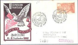 MATASELLOS 1953  SANTA COLOMA DE GRAMANET  CERTIFICADO - 1951-60 Lettres