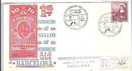 MATASELLOS 1953  BARCELONA  CERTIFICADO - 1951-60 Lettres