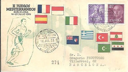 MATASELLOS 1955 JUEGOS MEDITERRANEOS - 1951-60 Lettres