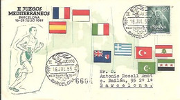 MATASELLOS 1955 BARCELONA   IIJUEGOS MEDITERRANEOS - 1951-60 Lettres