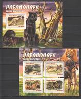 ST1555 2016 S. TOME E PRINCIPE ANIMALS & FAUNA PREDATORS AFRICA 1KB+1BL MNH - Other