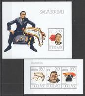 TG649 2013 TOGO TOGOLAISE ART PAINTINGS SALVADOR DALI KB+BL MNH - Sonstige