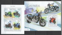 TG772 2013 TOGO TOGOLAISE TRANSPORT MOTORCYCLES LES MOTOS KB+BL MNH - Moto
