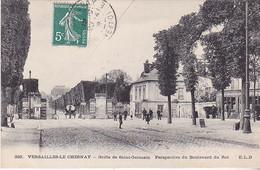 VILSEPT20-  VERSAILLES LE CHESNAY  GRILLE SAINT GERMAIN PERSPECTIVE DU BOULEVARD DU ROI    CPA CIRCULEE - Versailles