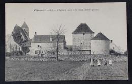 Cigogné - L'Eglise Et Le Vieux Chateau - Other Municipalities