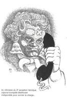 Poste Postes - Humour - Caporal Trompette Beethoven - Infirmerie  Escadron - Téléphone - Illustrateur TIM - 1987 TIM - Poste & Postini