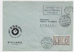 HELVETIA 4C6C CENTENARIUM LETTRE COVER OBLITERATION EN ARRIVEE EVILARD 18.VI.1943 BERNE - Briefe U. Dokumente
