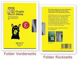 CRYPTO STAMP 2.0 - LAMA Blau - Folder Ungeöffnet - Austria 2020 - Errores & Curiosidades