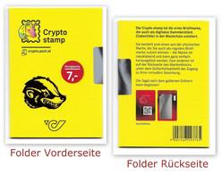 CRYPTO STAMP 2.0 - HONIGDACHS Grün - Folder Ungeöffnet - Austria 2020 - Errores & Curiosidades