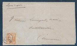 TB  N° 16 Oblitéré Cachet à Date Montauban Sur Bande De Papiers D'affaires - 1849-1876: Période Classique