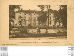 WW 77 CONGIS. Enfants Sur Le Muret Du Château Du Gué à Tresmes - Other Municipalities