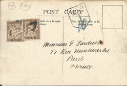 002164 - AUSTRALIA - NSW - POSTAL HISTORY - 1 1/2 FRANKING TO FRANCE TAXED AT ARRIVAL WITH TWO 10 C STAMPS -   1906 - Briefe U. Dokumente