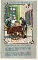 Publicité Cafés Thés Vanille Cacao Madagascar, Alençon - Paris Pittoresque: Repasseur De Couteaux - Lithographie - Publicidad