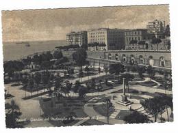 8843 - NAPOLI GIARDINI DEL MOLOSIGLIO E MONUMENTO DEL FANTE 1940 CIRCA - Napoli