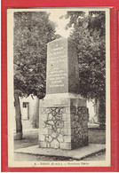 TOURY 1943 MONUMENT A L AVIATEUR BLERIOT 1° VOYAGE AERIEN TOURY ARTENAY ET RETOUR AVION AVIATION CARTE EN TRES BON ETAT - Other Municipalities
