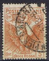 DO 16702  ITALIË  GESTEMPELD YVERT NR 100  ZIE SCAN - Gebraucht
