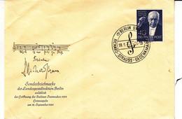 Berlin - Lettre FDC De 1954 - Oblit Berlin - Musique - Richard Strauss - Valeur 30 Euros - Cartas
