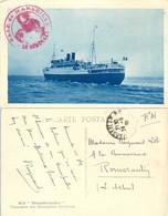 BASE DE MARSEILLE * LE GÉNÉRAL * Le 24-9-38 Bateau Qui Va Avoir L'honneur De Me Transporter :  M/S THÉOPHILE-GAUTHIER - Seepost