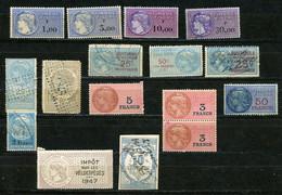 PETIT LOT DE FISCAUX ( À VOIR) DONT 1 SUR LES VELOCIPÈDES DE 1947 - Fiscale Zegels