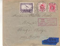 Belgique - Lettre De 1930 - Oblit Lier Et Bruxelles - Exp Vers Boendé Au Congo Belge - Liaison Aérienne Belgique Congo - - Covers & Documents