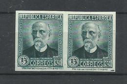 ESPAÑA EDIFIL  657  (PAREJA)    (SIN DENTAR)   MNH   ** - 1931-50 Unused Stamps