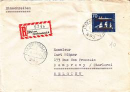 Allemagne - République Fédérale - Lettre Recom De 1965 - Oblit Leer - Bateaux - Voiliers - Valeur 10 Euros - Briefe U. Dokumente