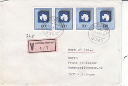 Allemagne - République Fédérale - Lettre Recom De Valeur De 1982 - Oblit Bad Füssing - Antarctica - Valeur 17 Euros - Briefe U. Dokumente