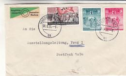 Allemagne - République Démocratique - Lettre De 1955 - Oblit Magdeburg - Cyclisme - Armoiries - Valeur 7 € ( 3.5 + 3.5 ) - Cartas
