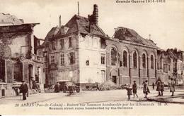ARRAS - Ruines Rue Saumon + Boulevard De Strasbourg Bombardées Par Les Allemands - Arras