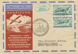 """DDR 1956 1.Postsegelflug In Der DDR """"MEININGEN – HILDBURGHAUSEN"""" - BABY DDR 1509 - Cartas"""